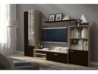 LACK LIVING ROOM SET, TV UNIT, CABINET, SHELF, DISPLAY, MEDIA FURNITURE! DELIVERY AVAILABLE!!