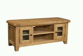 Somerset solid oak tv stand