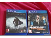 PlayStation 4 games; Shadow of Mordor and Payday 2