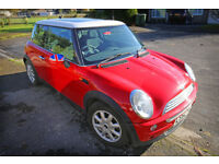 Mini Cooper 1.6 Petrol with panoramic sunroof, computer and union jack details