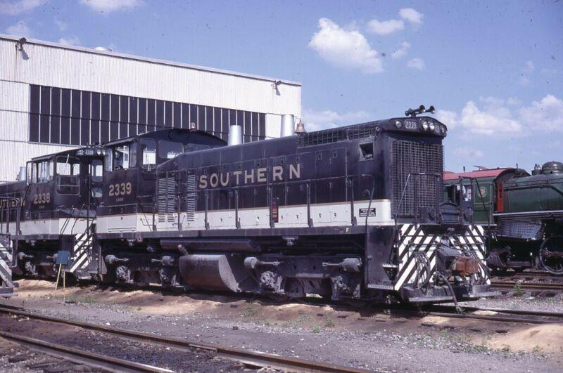 SOUTHERN RAILWAY Railroad Train Locomotives BIRMINGHAM AL 1970 Photo Slide