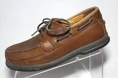 Cabelas Bison Point 2 Eye Boat Shoe Mens 8EE Leather Vintage Bay Apache for sale  Shipping to Canada