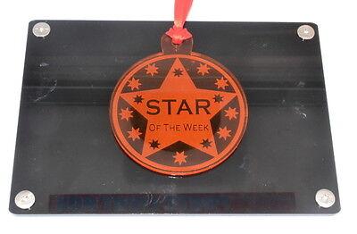 7 Durchmesser Perspex Star der Woche Auszeichnung Medaille Ideal für Schule und (Star Der Woche)