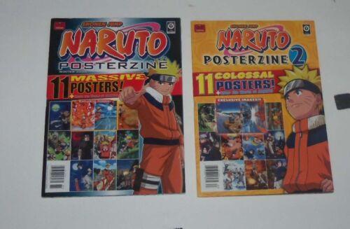 Shonen Jump Naruto Posterzine , 1, 2,  11 Massive Posters Magazine Anime