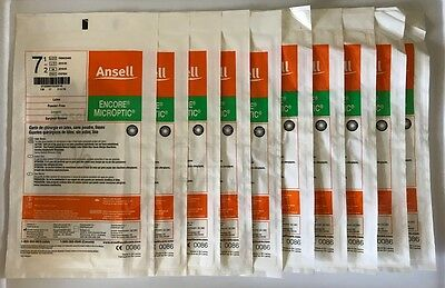 Ansell Encore Microptic Latex Powder Free Surgical Gloves 7.5 10 Pairs 5787004