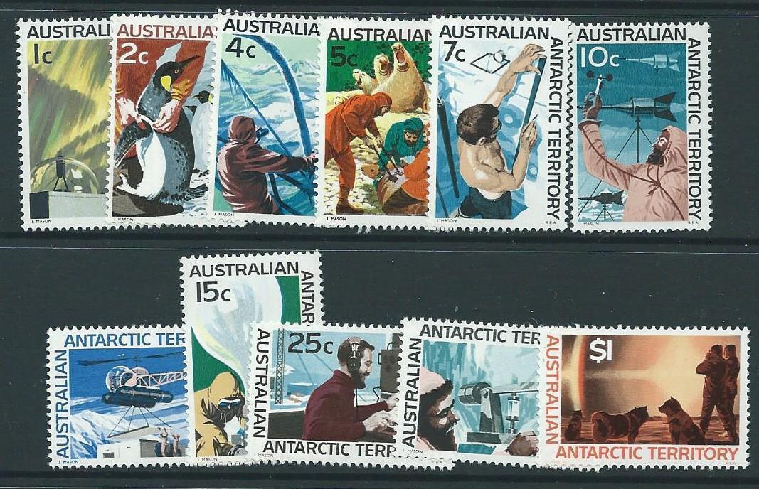 AUSTRALIAN ANTARCTIC TERR SG8/18 1966 DEFINITIVES MNH