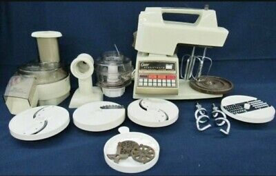 VINTAGE OSTER 16 SPEED ELECTRONIC TOUCH CONTROL KITCHEN CENTER WITH ACCESSORIES