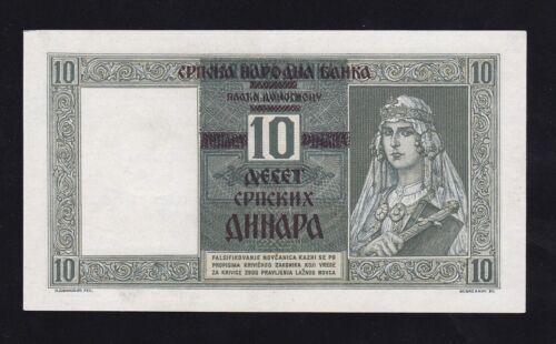 SERBIA ----- WW2 ---  10 DINARA  1941 ------ a-UNC/UNC  ----RR