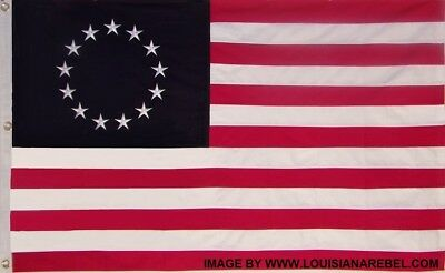 HEAVY DUTY SEWN COTTON BETSY ROSS FLAG - AMERICAN REVOLUTION - TEA PARTY