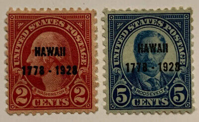 Travelstamps: 1928 US Stamps Scott #647 & 648,2c&5c Hawaii 1928 Commemoratives