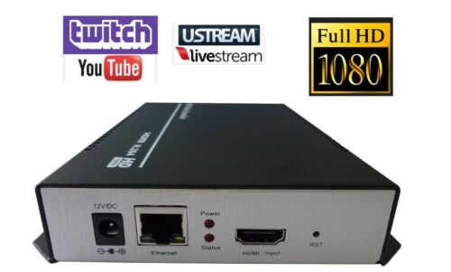 HDMI H264 HD IP Video Encoder Youtube Twitch Facebook VLC Broadcast Streaming