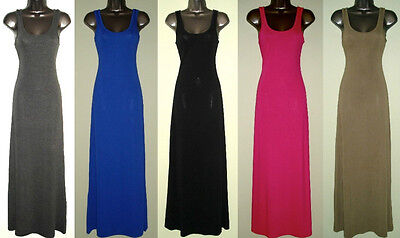 NEW Long Full Length Maxi Tank Dress-Poly/Rayon/Spandex-XS/S-M-L