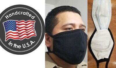 136 Big and Tall, FILTER POCKET, Face mask, Large, double 100% cotton nose Cover