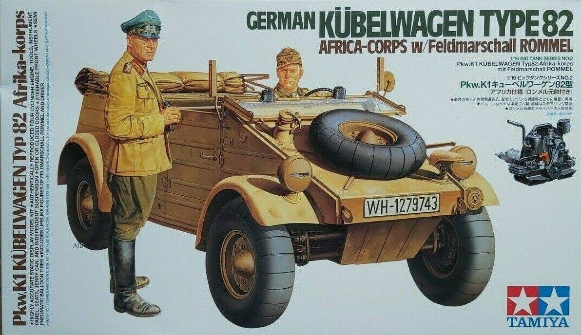 Tamiya 32503 German Kübelwagen Type 82 Africa-Corps 1:48 Neu und eingetütet