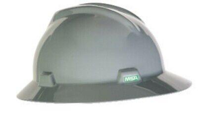 MSA V-Gard Gray Full Brim Hard Hat