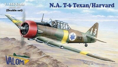 T-6 Texan in Israel Syria Holland Yugoslavia (TWO 1/144 model kits, Valom 14410) for sale  Poughkeepsie