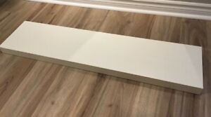 2 Tablettes blanches Lack Ikea