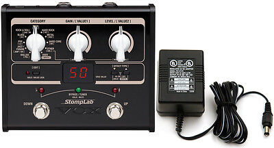 Vox Stomplab 1G Guitar Multi-Effects Modeling Pedal Bundle w/Power Supply!