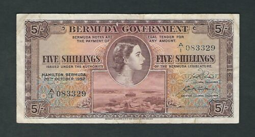 Bermuda - Five (5) Shillings, 1952