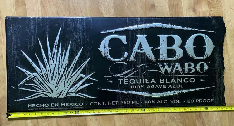 """Large CABO WABO Tequila Blanco Tin Sign 40"""" X 17"""" SHIPS FREE! Man Cave Wall"""