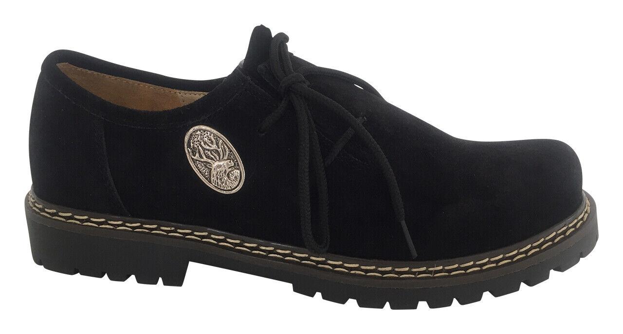 Details zu Trachten Schuhe Herren Haferlschuhe Halbschuhe zur Lederhose Wildleder Schwarz