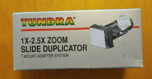 Tundra 1x-2.5x Zoom Slide Duplicator Kit/ T Mount Adapter System in original box