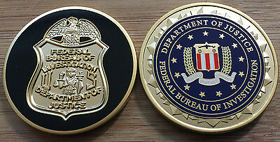 FBI - Federal Bureau of Investigation BADGE + SEAL version challenge coin
