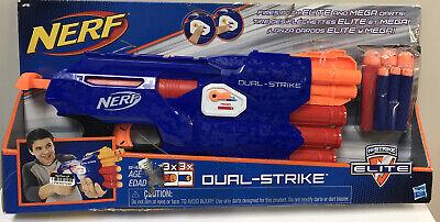 NERF Dual STRIKE N-Strike Elite Lite Mega Foam Dart Gun Dual Toy Blaster
