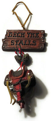 Christmas Ornament Deck The Stalls Horse Rider Resin Ornament Faux Leather - Horse Rider Deck