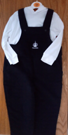 Dungarees and hooded top set