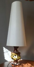 German Table Lamp 1970's Double Bulb. Overall Height 96 cm. PAT tested NG9