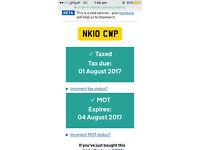 Yahama 125cc Moped Tax & Mot