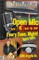 Loose Cannon Open Mic every Tues. 9pm