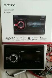 Sony stereo with vauxhall harness + edge sub