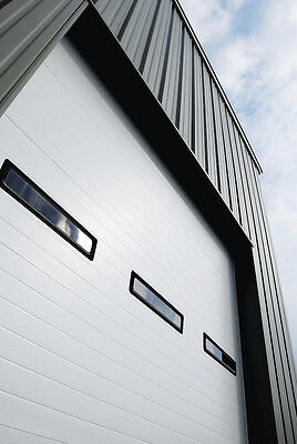 Duro Grit one's teeth Amarr 2412 Series 16' X 14' Commercial INSULATED Operating costs Garage Door