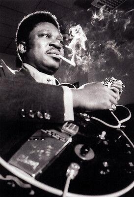 B.B. King Poster, Smoking & Playing Guitar, Blues