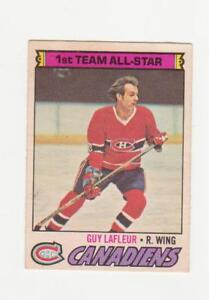Carte de hockey 1977-78 OPC #200 Guy Lafleur  (A4809)