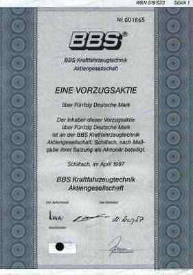 BBS Leichtmetall Felgen 1987 Vorzüge Schiltach Herbolzheim BMW Audi Porsche VW