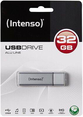 Intenso USB Stick 32GB Speicherstick Alu Line silber