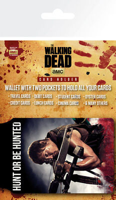 The Walking Dead Daryl TV Zombies TWD Card Holder Travel Pass Oyster Wallet