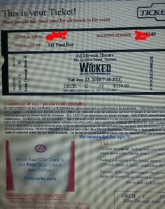 WICKED TORONTO TICKETS