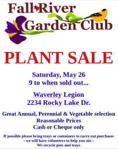 !!! LARGE ANNUAL PLANT SALE !!!!