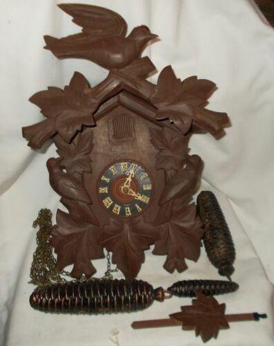 Vintage Cuckoo Clock Germany 3 Birds