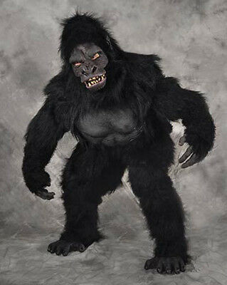 Professional Gorilla Ape Adult Halloween Zagone Suit  Mask Hands Feet Costume - Professional Halloween Costumes