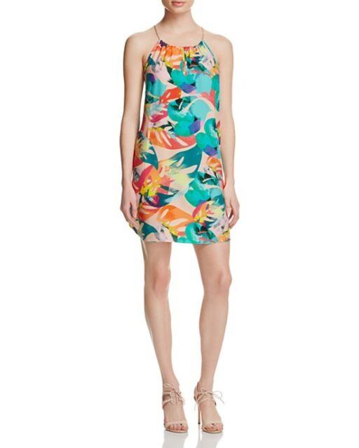 Amanda Uprichard Silk Chain Dress Tropical Calypso Print US Small S ...