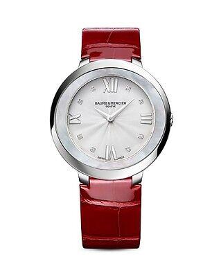 - Baume & Mercier Promesse 10262 Stainless Steel & Alligator Strap Watch