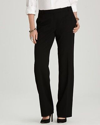 Women's Calvin Klein Madison Black Straight Leg Dress Pants Size 14 NEW $79