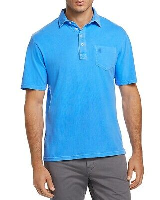 NEW MENS JOHNNIE-O NEON BLUE GARMENT DYED HANGIN OUT POLO SHIRT SIZE S