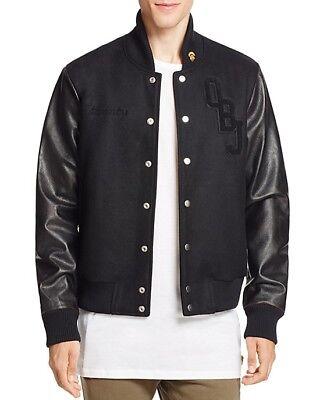 New $595 Men's OBJ x Twenty Odell Beckham Jr. Black Wool Varsity Jacket Coat M - Junior Varsity Jacket