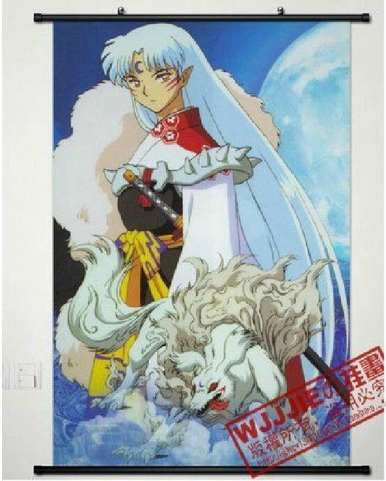 "Home Decor Anime Poster Wall Scroll Hot Inuyasha Sesshomaru Cosplay 24.5""*34.6"""